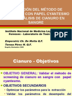 Análisis de Cianuro en Sangre