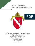 DL-OLCD, Manual Diocesano Para Entrenadores Parroquiales de Lectores