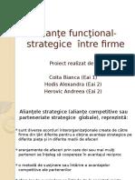 Alianţe Funcţional-strategice Între Firme