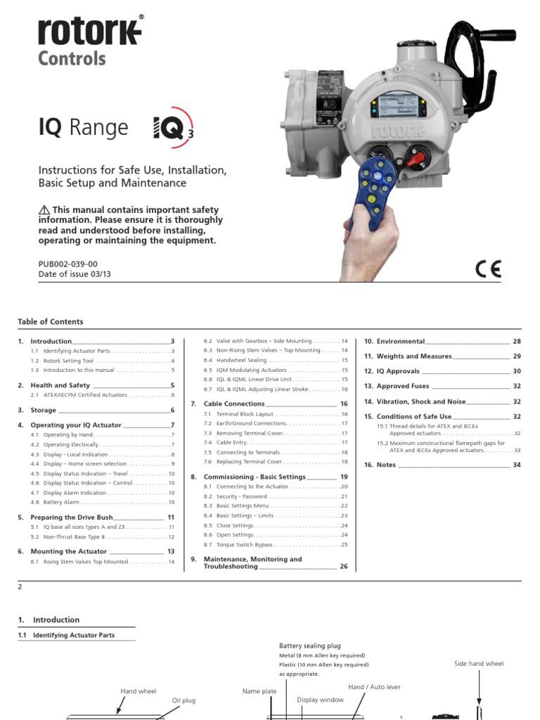 Rotork Actuator Setting Tool Wiring Diagram  Rotork Setup Guide