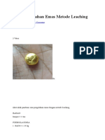 Proses Pengolahan Emas Metode Leaching