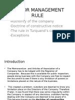 Indoor Management Rule