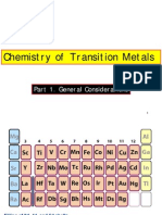 Chemistry of Transition Metals
