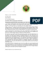 Lettre envoyée par Allen Vincatassin, président du Diego Garcia and Chagos Council