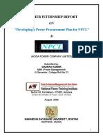 Summer Internship Report for Npcl