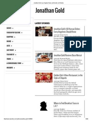 Jonathan Gold at LA Weekly | Restaurants | Los Angeles