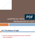 Chapter 33 the Nature and Propagation of Light