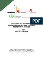 ROTA Report on Hate Crime & RJ July 2007 - Final