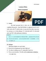Lesson 9-Hotel Complaint.doc