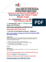 (2016-7-13 NEW)Braindump2go 400-101 Dumps 1119Q&As(1070-1080)