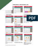Calendario BDO Auditores - Madrid