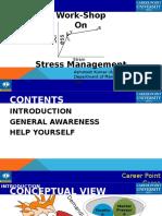 Stress Management Work-Shop for Faculties by Ashutosh Kumar