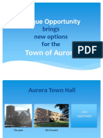 Aurora Town Hall Options 2016