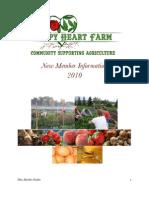 Happy Heart Farm New Member Packet 2010