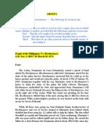 Compiled Case Digest for Criminal Law
