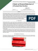 Experimental Study On Flexural Behavior of Cold Formed Steel Section