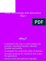 DNA Technology and Genomics Part One