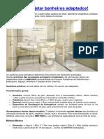 Aprenda a Projetar Banheiros Adaptados