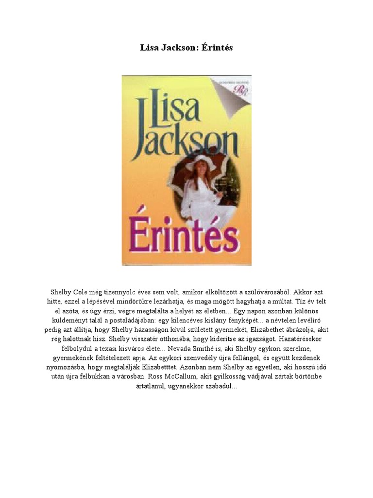 Lisa Jackson - Érintés e3525eb5e3
