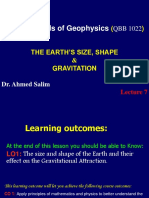 l7 the Earth's Size -Shape and Gravitation