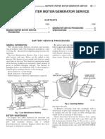 28026222 93ZJ Secc 8B Battey Starter Motor Generator Service