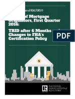 Survey of Mortgage Originators First Quarter 2016