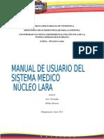 Manual de Usuario Sistema_Medico