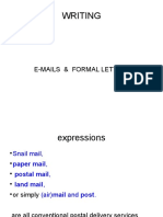 12 - Writing - Emails and Letters