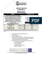 200 KVA Perkins Diesel Generator Set