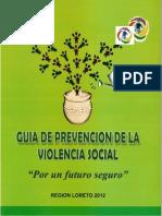 Guía de Prevención de la Violencia Social.