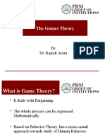 PDM Games Theory