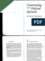 Edelman Constructing the Politica Spectacle