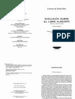 1- LIBRO - ERASMO DE RÓTERDAM - DISCUSIÓN SOBRE EL LIBRE ALBEDRÍO (Respuesta a Martín Lutero).pdf