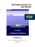 SAGE Profile V6.3.2 User Manual - Volume 1