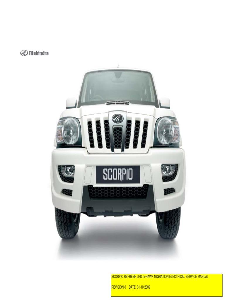 mhawk lhd manual electrico rh scribd com Scorpio Vehicle Mahindra Scorpio USA