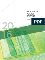 July 2016 Canadian Monetary Policy Report