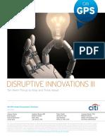Disruptive Innovations