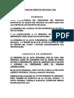 Diapositivas de Derecho Procesal Civil en Word