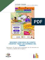 """Segundo Concurso de Cuento Creativo """"Bajo Las Sombras Del Saman"""