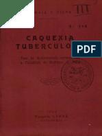 Caquexia Tuberculosa 1924