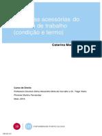 Trabalho de Direito do Trabalho-  Claúsulas Acessórias (Termo e Condição)