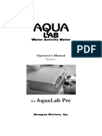 Manual AquaLab Series Pre