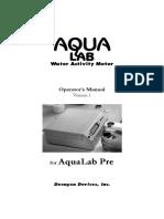 Manual AquaLab Series Pre