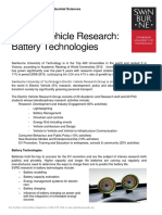 Electric Vehicle Research Battery Technology