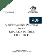 Constitución Política de la  República de Chile Años 1810-2015