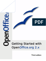 Getting Started OpenOffice.org 2.X