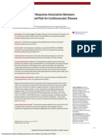 Continuous Dose-Response Association Between Sedentary Time and Risk for Cardiovascular Disease