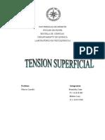Informe Tensión Superficial