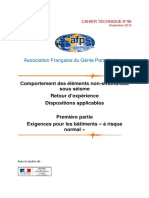 AFPS- CT 36 - 2015-09 - Elements Non-structuraux - Partie I