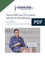 12-07-2016 E-Consulta - Plantea RMV Que CFE Condone Adeudos en Huauchinango